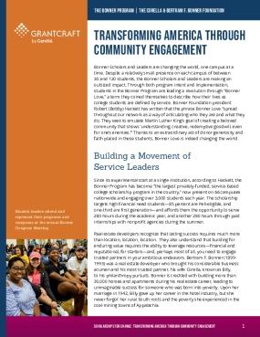 Transforming America Through Community Engagement