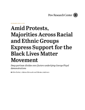 Amid Protests, Majorities Across Racial and Ethnic Groups Express Support for the Black Lives Matter Movement