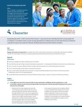 Education Program Snapshot: Character